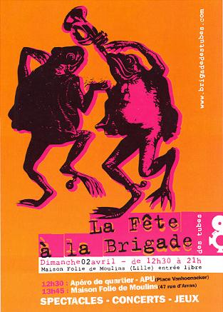 Flyer de la Fête à La Brigade