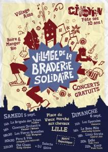 Affiche Village Braderie Solidaire