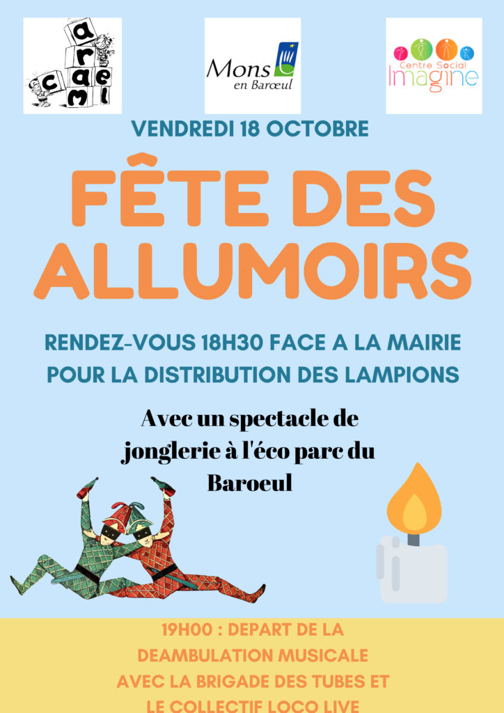 Affiche Fête des Allumoirs Mons en Barœul 18 octobre 2019