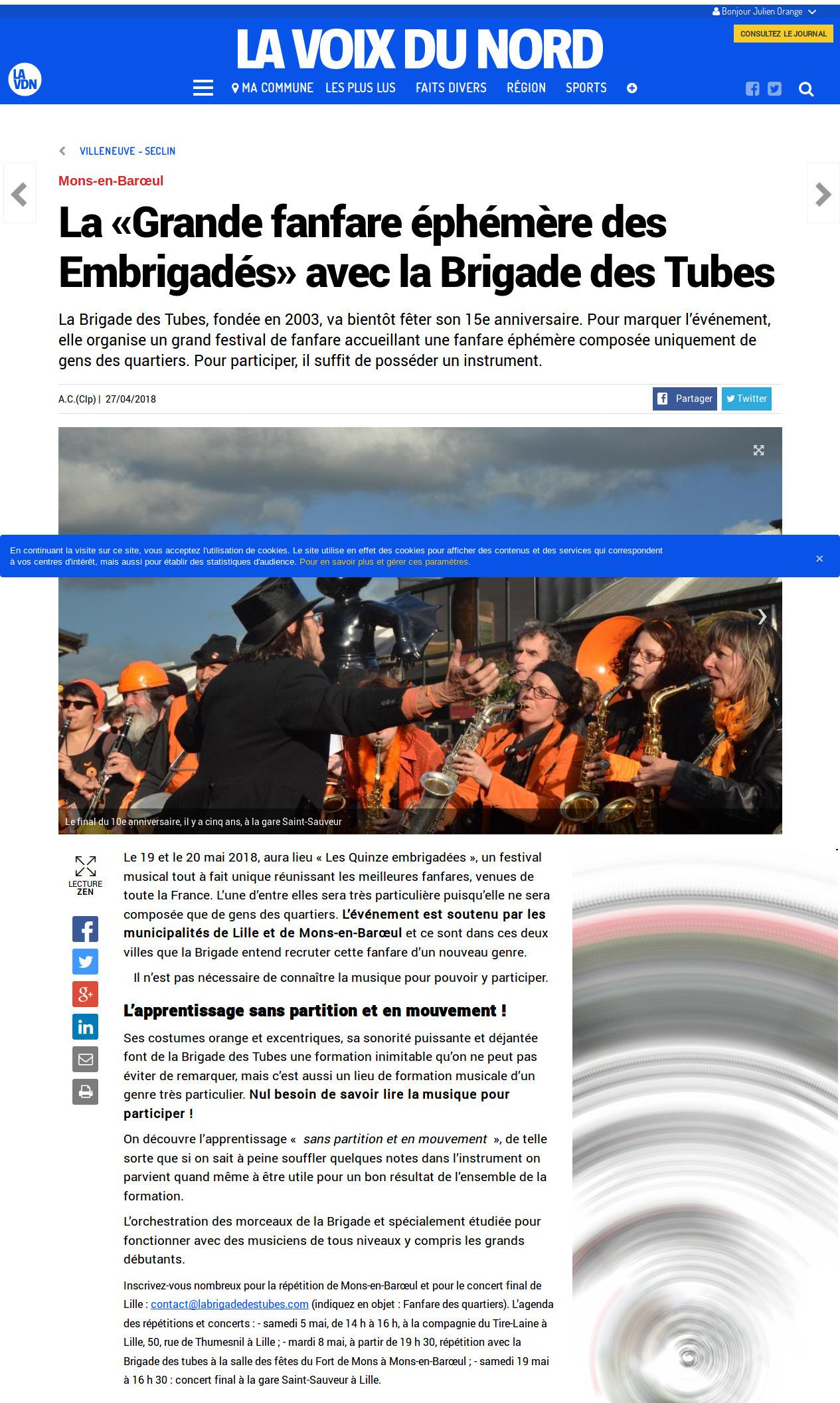 Screenshot-2018-5-28 Mons-en-Barœul - La «Grande fanfare éphémère des Embrigadés» avec la Brigade des Tubes